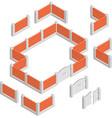 Fences Isometric Design Concept vector image