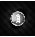 Full battery web icon vector image vector image