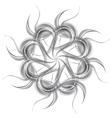 Grey silver wavy pattern shape vector image vector image