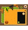 halloween scrapbook background vector image vector image