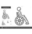 Handicap line icon vector image vector image