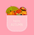 hello autumn greeting card template fall vector image vector image