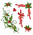 Holly loops set vector image vector image