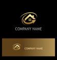 house roarrow gold logo vector image vector image