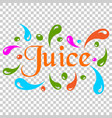 juice splash spray icon in flat style juice drink vector image vector image