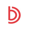 letter b and d logo company vector image vector image