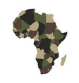 map of africa in army camouflage colors vector image vector image
