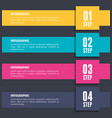 numbers and steps infographic template vector image