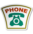 old phone sticker vector image vector image
