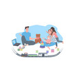 parents with children spending time together vector image vector image