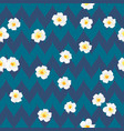 plumeria flowers beautiful fabric pattern vector image vector image
