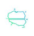 poland map icon design vector image vector image