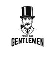 private gentlemen club gentleman in retro hat and vector image vector image