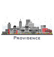 providence rhode island city skyline with color vector image vector image