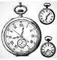 retro watches vector image vector image