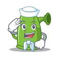 sailor watering can character cartoon vector image vector image