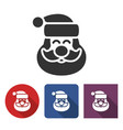 santa claus icon in different variants vector image vector image