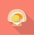 sea shell icon flat style vector image