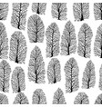 seamless texture with trees without foliage vector image vector image