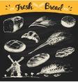 Set fresh draw drawn bread wheat sketch vector image vector image