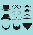 set of dress up constructor with different men vector image vector image