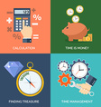 Set of flat design concept icons for business vector image vector image