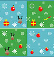 set of seamless backgrounds with christmas vector image
