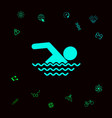 swim icon symbol graphic elements for your vector image