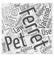 The Laws On Ferrets Word Cloud Concept vector image vector image