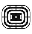 top view stadium icon simple style vector image vector image