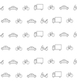 transportation pattern vector image