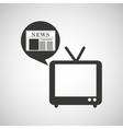 tv retro news bubble speech design vector image vector image