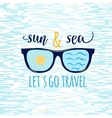 Vintage summer sunglasses with quote Lets go vector image vector image