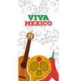 viva mexico vertical banner vector image vector image