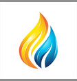 water flame colorful logo vector image vector image