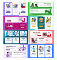 website banners set horizontal vertical vector image