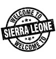 welcome to sierra leone black stamp vector image vector image