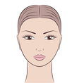 Woman s face vector image vector image