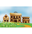Wooden Houses vector image vector image