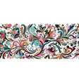 vintage floral baroque seamless border with vector image
