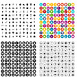 100 autumn festival icons set variant vector image