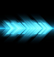 abstract blue light arrow speed on black vector image