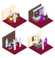 arab 3d people isometric arabs shopping vector image vector image
