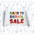 Back to School Sale curved banner vector image vector image
