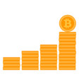 bitcoin stack ladder or stairs vector image vector image