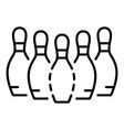 bowling pins icon outline style vector image vector image