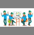 business man character working boy man vector image vector image