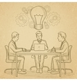 Business team brainstorming vector image vector image