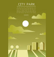 city park flat vector image vector image