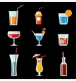 cocktail party icons vector image vector image